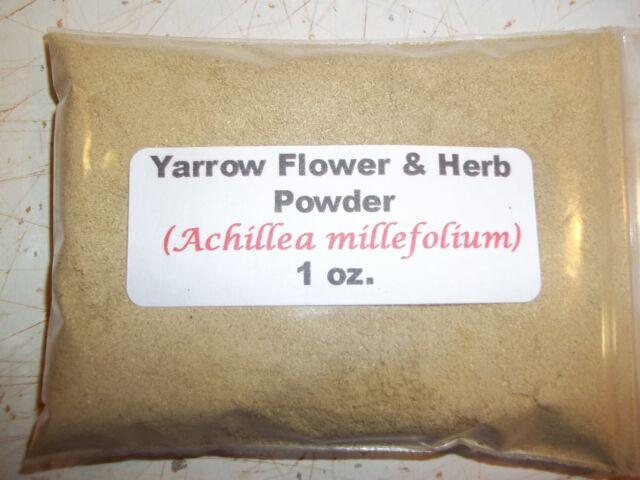 1 oz. Yarrow Flower & Herb Powder (Achillea Millefolium)