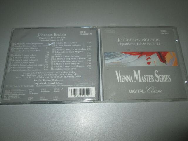 CD - Johannes Brahms - Ungarische Tänze Nr. 1-21 - Vienna Master Series - PILZ