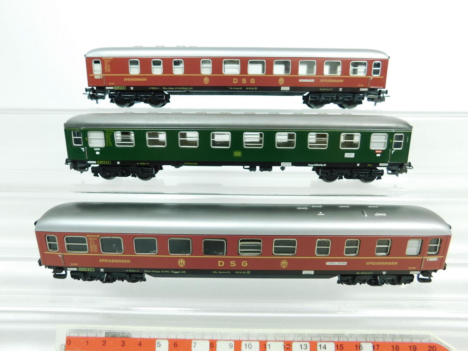 Bc939-1   3 x   H0/AC carroza ecc. : 36 201 DSG + a4üm/11853 DB, 2 SCELTA
