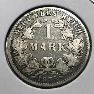 1875-E-GERMANY-SILVER-ONE-MARK-EMPIRE-COIN