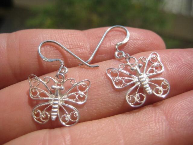 925 silverbutterfly earring earrings northern Thailand A8