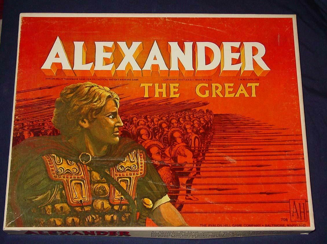 AH Avalon Hill 1974 - Alexander The Greek ancient wars  -  UNPUNCHED  MACEDONIA