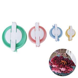 4-Sizes-of-Pom-Pom-Maker-Fluff-Ball-Weaver-DIY-Knitting-Craft-Tool-Kit
