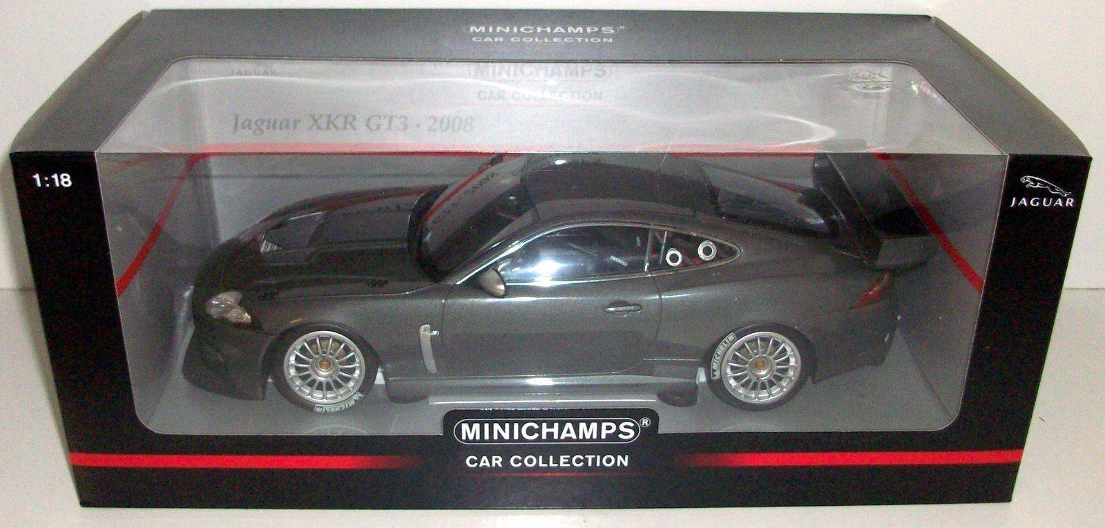 MINICHAMPS 1 18 - 150 081390 JAGUAR XKR GT3 - GREY METALLIC 2008 - REDUCED