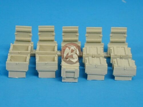 10 pieces Tank Workshop 1//35 US Army Grenade // Ammunition Boxes Resin 350126