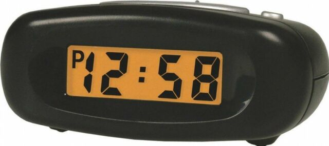 Reloj Despertador bentima Negro Crescendo Luz Repetición De Alarma LCD Digital de Viaje Pequeña Acctim