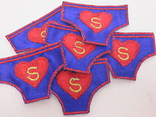 Pack of 10 - Superman Pants Jumper Bag Card Making Arts Crafts Motifs #20A99
