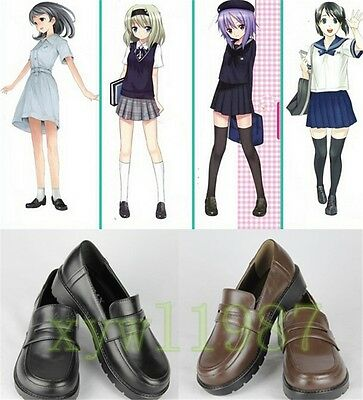 Japanese School Student Uniform Shoes Uwabaki JK Round Toe Cosplay Cool Shoes