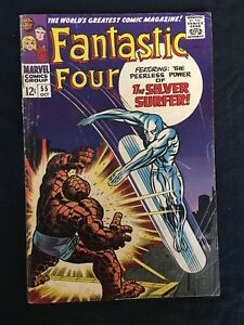 FANTASTIC-FOUR-55-THING-SILVER-SURFER-SILVER-AGE-MARVEL-COMIC