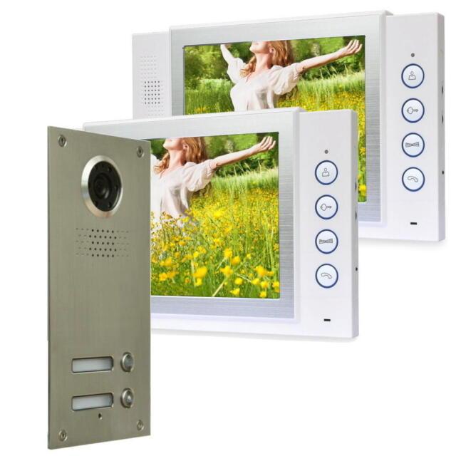 2 Familienhaus Türsprechanlage Bildspeicher Kamera LED Nachtsicht Sichtwinkel