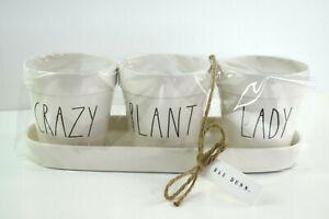 Rae-Dunn-Crazy-Plant-Lady-4-Piece-Set-Planters-Gardening-Pots