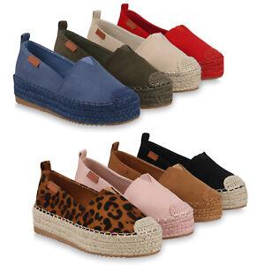 new products 821f9 f76b5 Details zu Damen Plateau Slipper Bast Espadrilles Slip On Plateauschuhe  826464 Schuhe