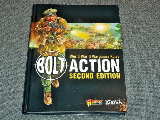 Bolt Action 2nd Second Edition WWII Rulebook World War II Book Warlord Games New