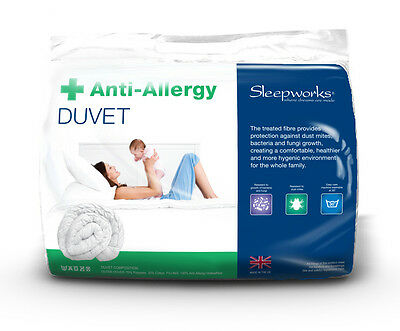 Anti Allergy Hollowfibre All Seasons Duo King Bed Size Duvet Quilt, Bedding