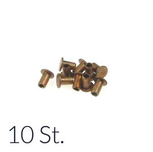 10 x Nieten 5x9mm Kupfer für Bremsbeläge Kupplungsbeläge Bremsbelag