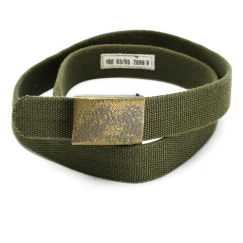 Genuine German army military belt canvas pants trousers combat issue w buckle