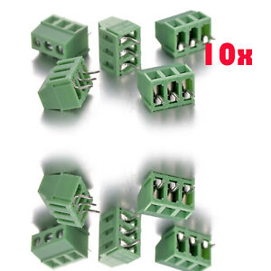 Details about 10P x 3 Pins Green PCB Terminal Block Screw Connector Pitch  3 5mm