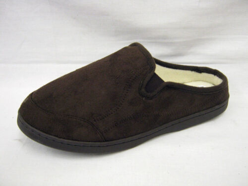 MENS FLEECED LINED BROWN MULE SLIPPERS /'DONALD/' WILLIAM LAMB