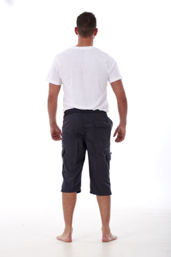 MEN/'S NEW FEEL 3//4 Lungo Cargo Combat Sports SHORTS COTONE POLIESTERE SPIAGGIA SURF SHORTS