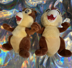 VINTAGE-DISNEY-DISNEYLAND-Lot-Of-2-CHIP-amp-DALE-COLLECTIBLE-PLUSH-TOY-AUTHENTIC