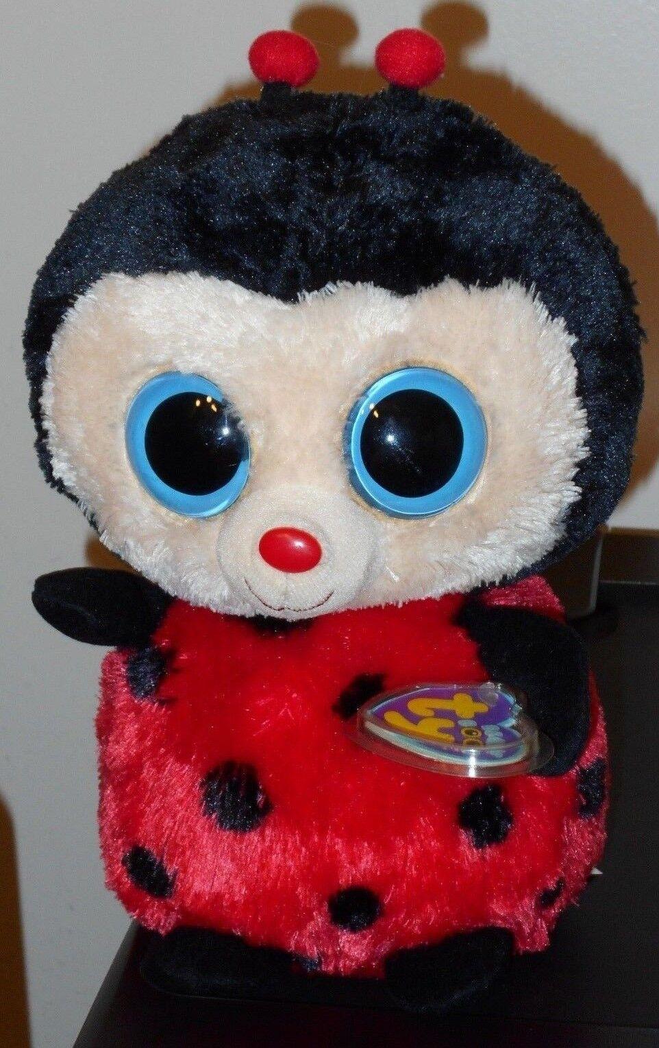 Ty Beanie Boos  BUGSY the Ladybug (9 Inch  Medium Buddy Size Plush) MWMT