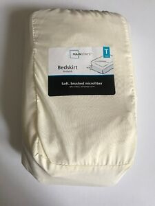 Mainstays-Soft-Microfiber-Bedskirt-Fresh-Ivory-Twin-in-a-Bag