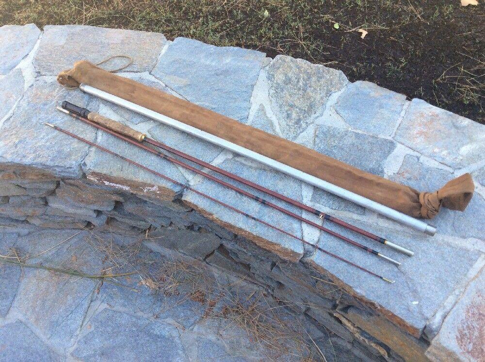 Phillipson  de Luxe  tres piezas 9' 0  de fibra de vidrio volar rod-muy Buen Estado