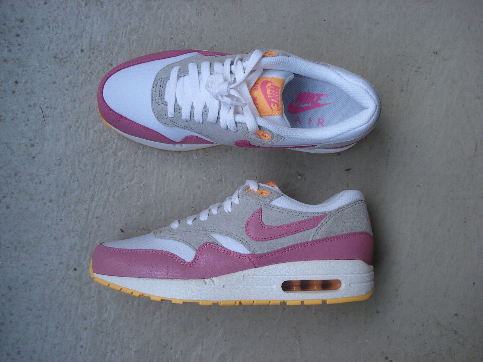 Casual salvaje Wmns Nike Air Max 1 essential 39 White/PNK glw-WLF Gry-atmc MNG