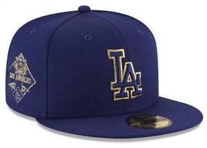 9c39c2309b32dd Official Los Angeles Dodgers MLB Team on Metallic New Era 59FIFTY ...
