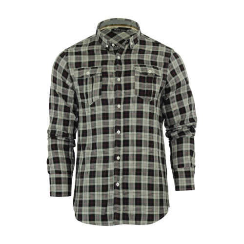 Da Uomo Check Camicia Brave Soul CONO cotone manica lunga top casual