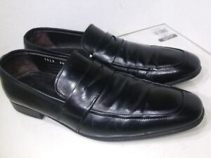 To-Boot-New-York-Black-Leather-Loafers-Slip-On-Mens-Size-10-5