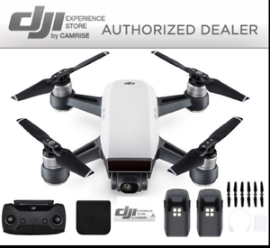 DJI-Spark-Drone-Quadcopter-Remote-Plus-Extra-Battery-Bundle-in-White