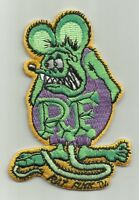 Officially Licensed Ed big Daddy Roth Rat Fink Hot Rod Patch Green & Purple