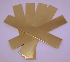 """Raw Brass Sheet, Bracelet Cuff Blanks 6"""" x 1"""" 16ga Package Of 6"""