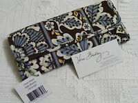 Vera Bradley Slate Blooms Sleek Wallet Coin Checkbook For Purse, Please Read