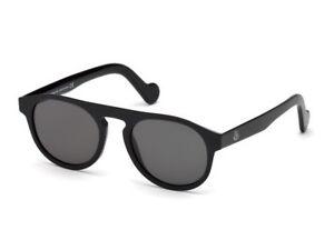 check-out 3d3d6 afa53 Dettagli su Occhiali da Sole MONCLER ML0073 nero lucido fumo 01A