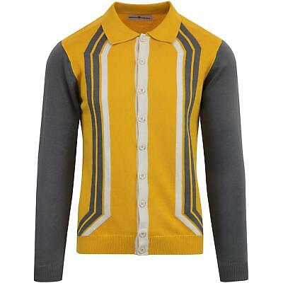NEW MADCAP MENS RETRO MOD 60s 70s FUNNEL NECK KNITTED CYCLING TOP Sprint MC479