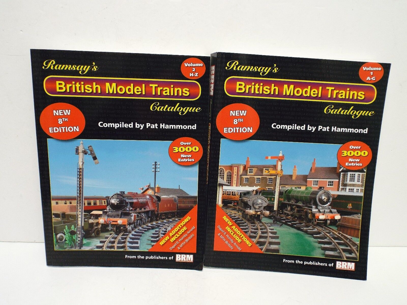 RAMSAY'S BRITISH MODEL TRAINS VOL-1 & VOL-2 PRICE GUIDE EXCELLENT  B28