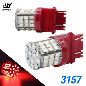 Details about 3157 LED Brake Light Bulbs Red Tail Stop High Power Lamp Pair
