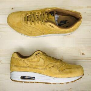 Nike-Air-Max-1-Premium-Wheat-Light-Bone-Sneakers-875844-701-Men-039-s-Size-11-5