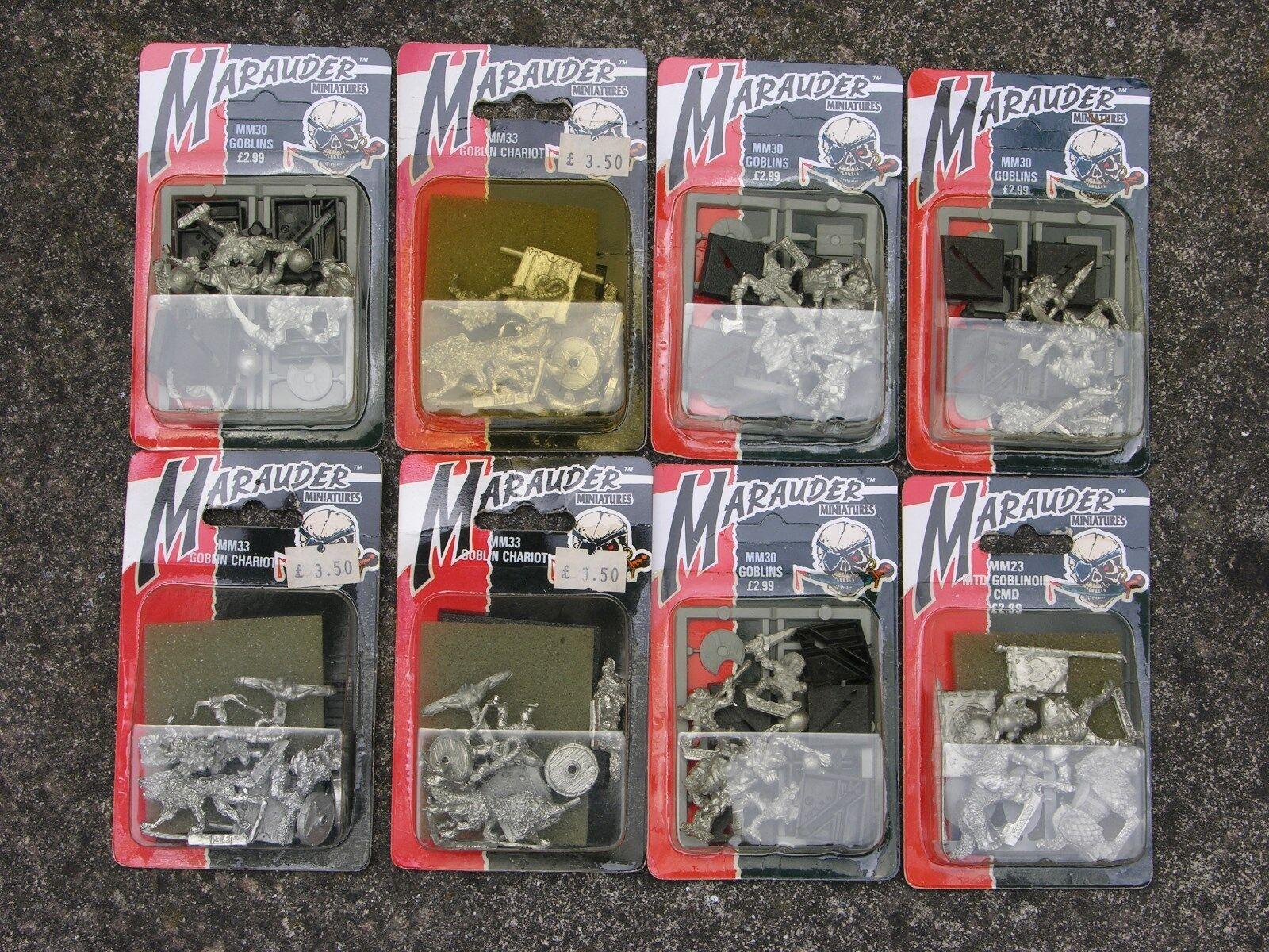 Marauder, Whfb Goblin,   mm  Serie, Paquete Plastificado Listado Múltiple