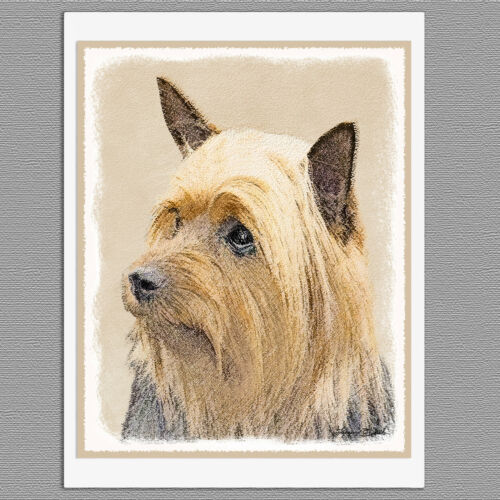 6 Silky Terrier Australian Dog Blank Art Note Greeting Cards