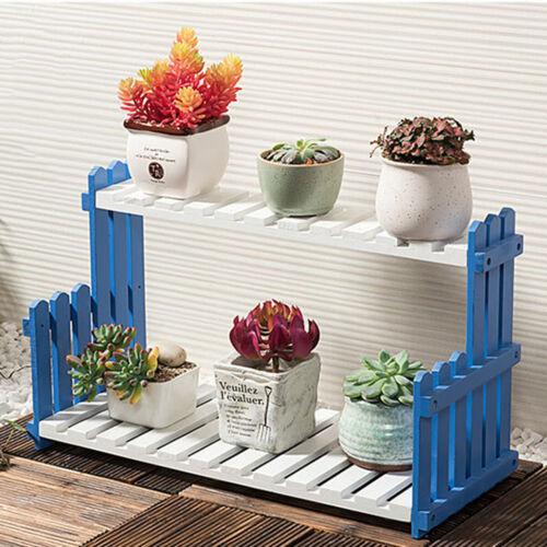 Holz Blumenregal Pflanzentreppe Ständer Pflanzregal Blumenständer 2 Ebenen A