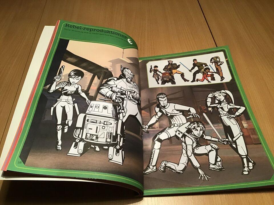 Tegne/male, Star Wars malebog med opgaver, Disney