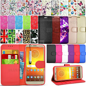 uk availability 1aaf9 0e61b Details about For Motorola Moto E5 Play - Wallet Leather Case Flip Cover  Phone Book + Stylus