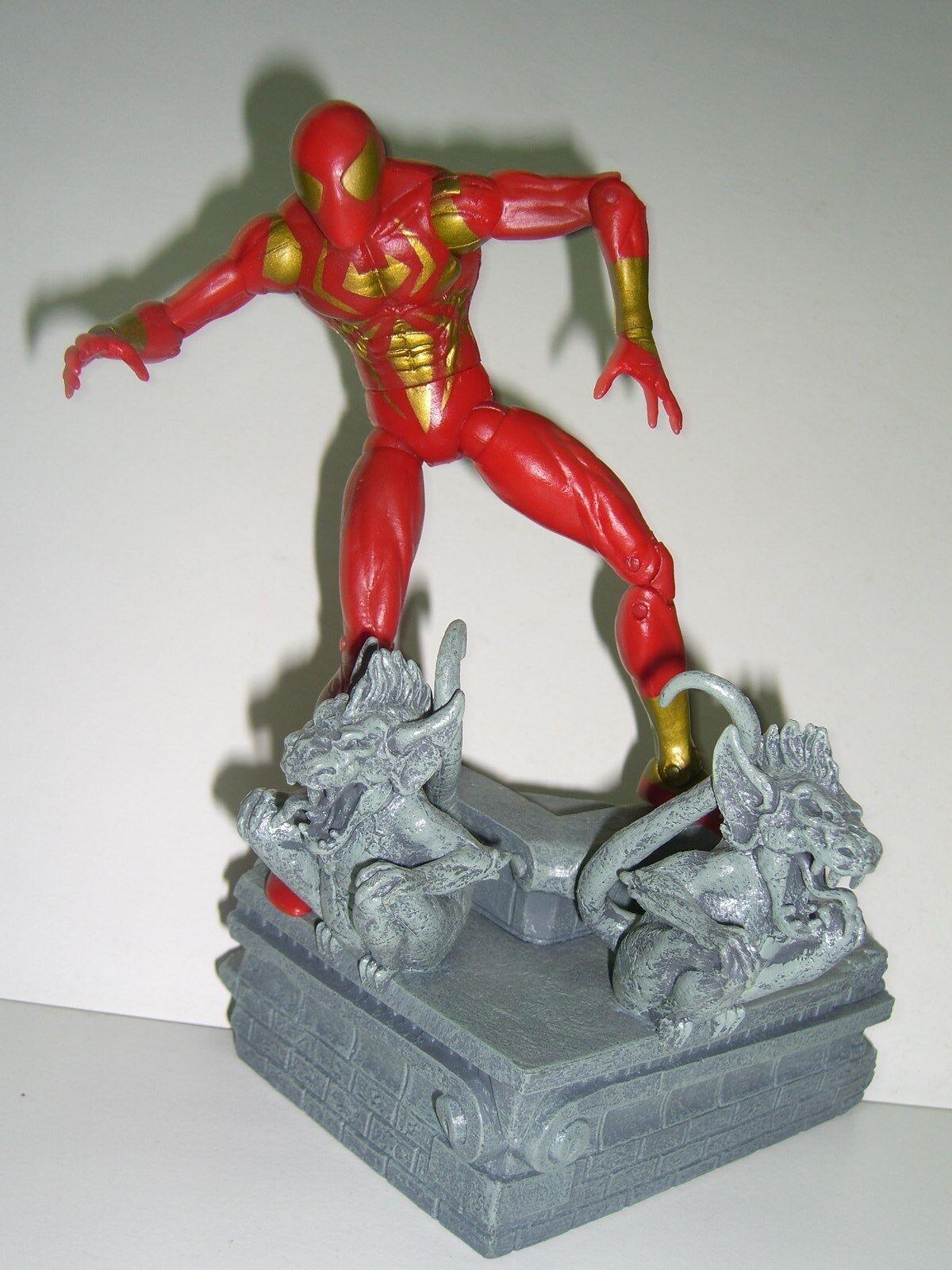 MARVEL SELECT Iron Spider-Man guerre civile Assistant EXCLUSIVE TOY BIZ Figure + Base