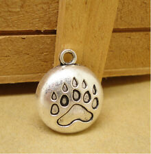 20Pcs Wholesale Zinc Alloy Bear's paw print Charms Pendants 20X16MM