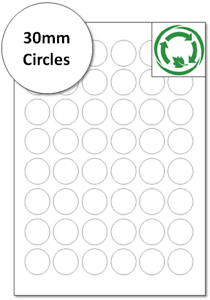 Eco Friendly Compostable Stickers 30mm circles Biodegradable round Labels