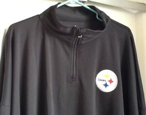 4c5858be0 NWT~Majestic NFL Men s Pittsburgh Steelers~ 1 4 Zip Up Jacket ~ Big ...
