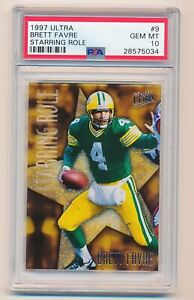 Brett-Favre-1997-Ultra-Starring-Role-9-Insert-PSA-10-Gem-Mint
